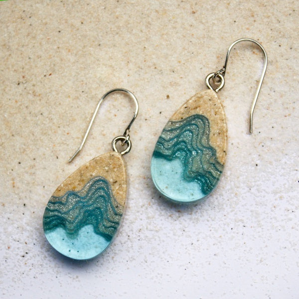 Airllywood - Airllywood, BoldB Seashore Dangle Earrings - Aqua, Earrings