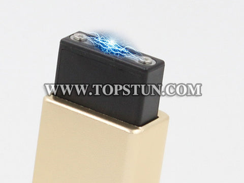 Mini Stun Gun 1502 Gold - 15 Million Volts Key Chainable LED Flashlight Rechargeable