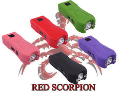 Mini Stun Gun 398 Red - 17 Million Volts LED Flashlight Rechargeable