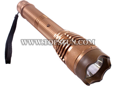 Metal Stun Gun 359 - 28 Million Volts Rechargeable & Controllable LED Tactical Flashlight