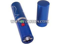 Mini Stun Gun 328 Blue - 15 Million Volts Lipstick Flashlight Rechargeable
