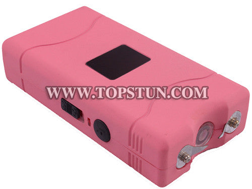 Mini Stun Gun 800 Pink - 15 Million Volts Rechargeable LED Flashlight