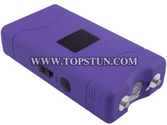 Mini Stun Gun 800 Purple - 15 Million Volts Rechargeable LED Flashlight