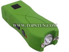 Mini Stun Gun 398 Green - 17 Million Volts LED Flashlight Rechargeable