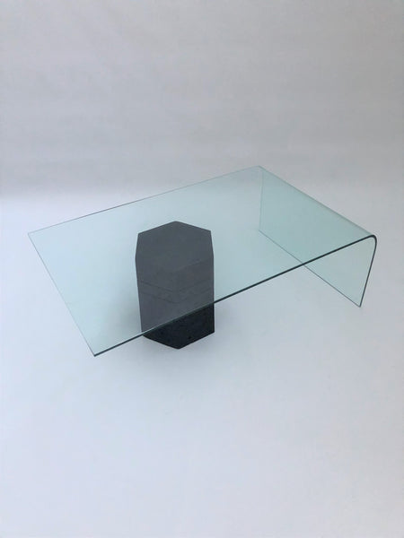 Geo Abstract Cantilevered Glass Table