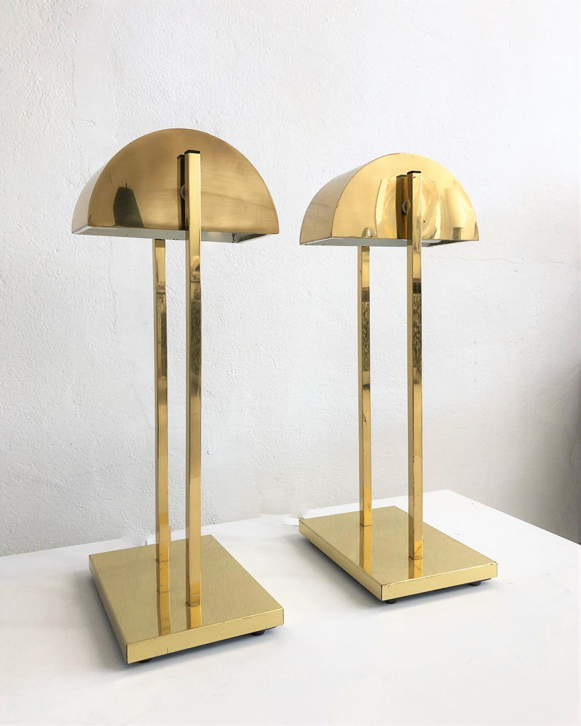 American 1960's Brass Table Lamps