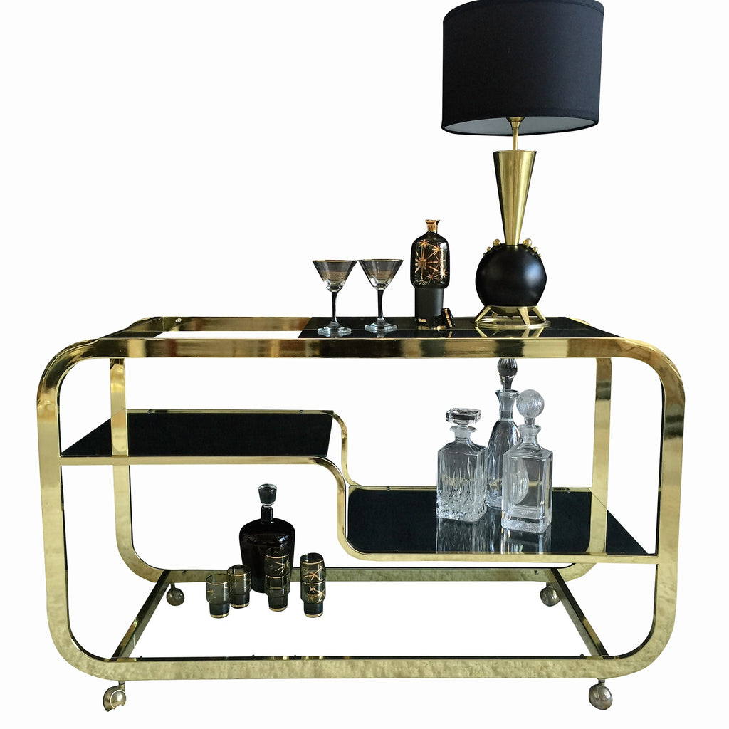 Brass Bar-cart by Design Institute America