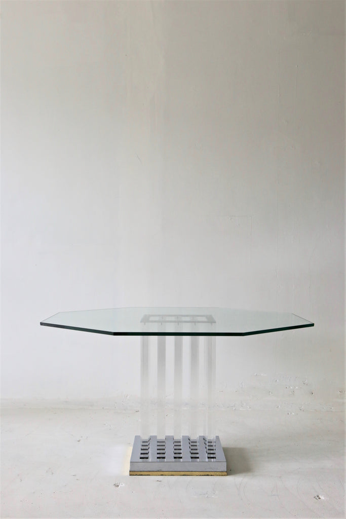 Charles Hollis Lucite Dining Table USA