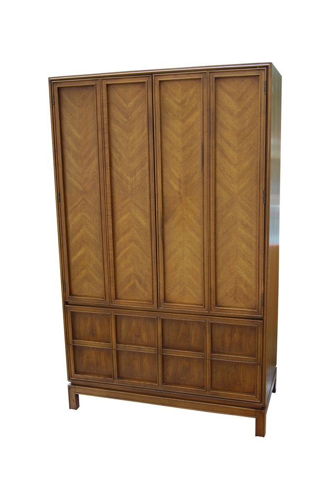 Walnut Armoire By Thomasville Furniture Mid Century Swag
