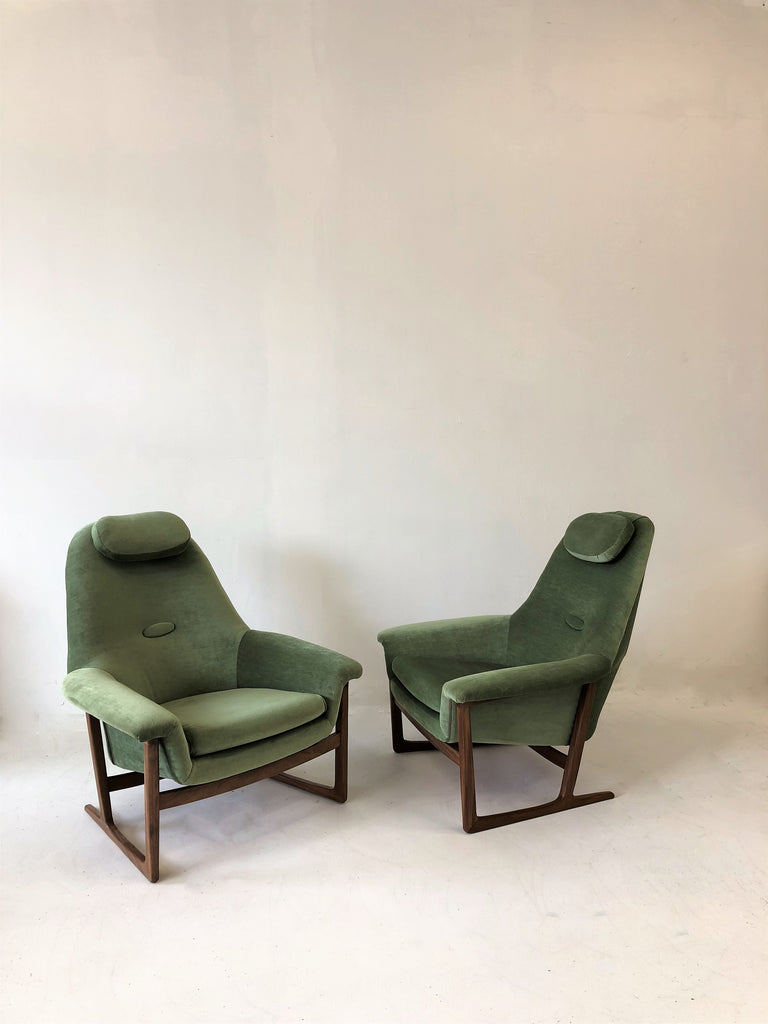 Pair of Stunning Scandinavian 1960's Teak Lounge Chairs