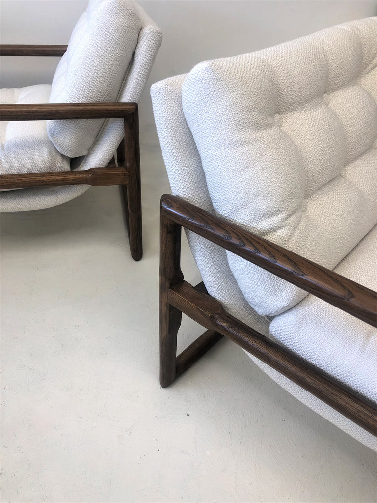 1970's Milo Baughman Scoop Arm Chairs