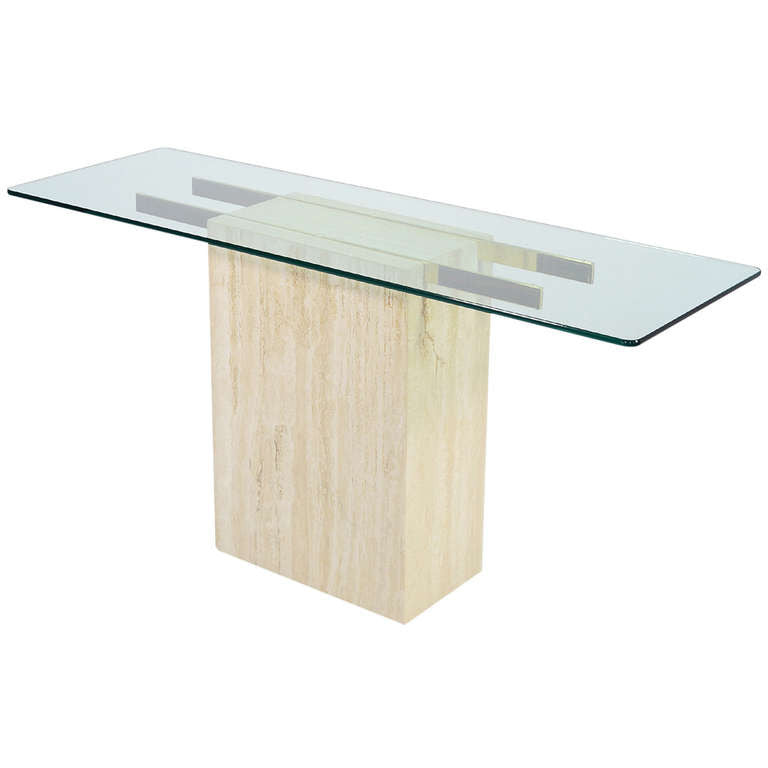 Ello Marble Glass Console Table