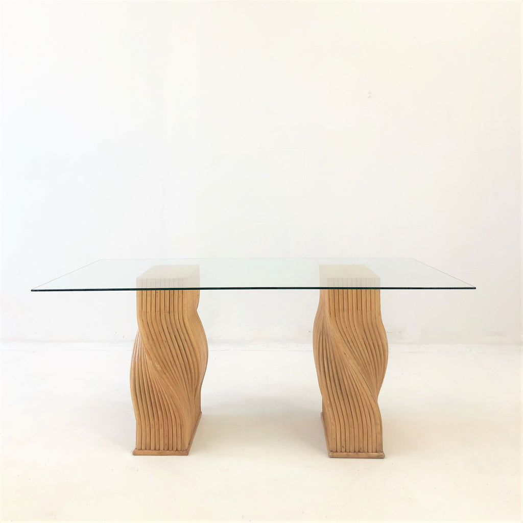 Gabriella Crespi Style Reed Dining Table