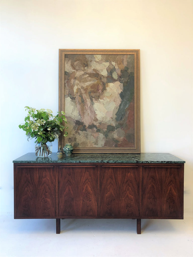 Pair of 1960's Bespoke Brazilian Rosewood Credenza USA