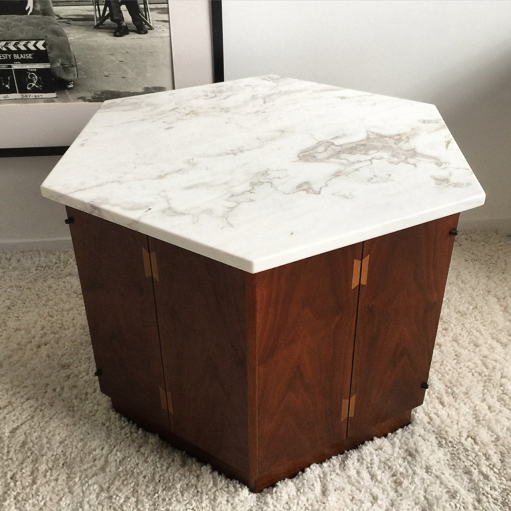 American Lane Furniture Night Stands with Mable Tops