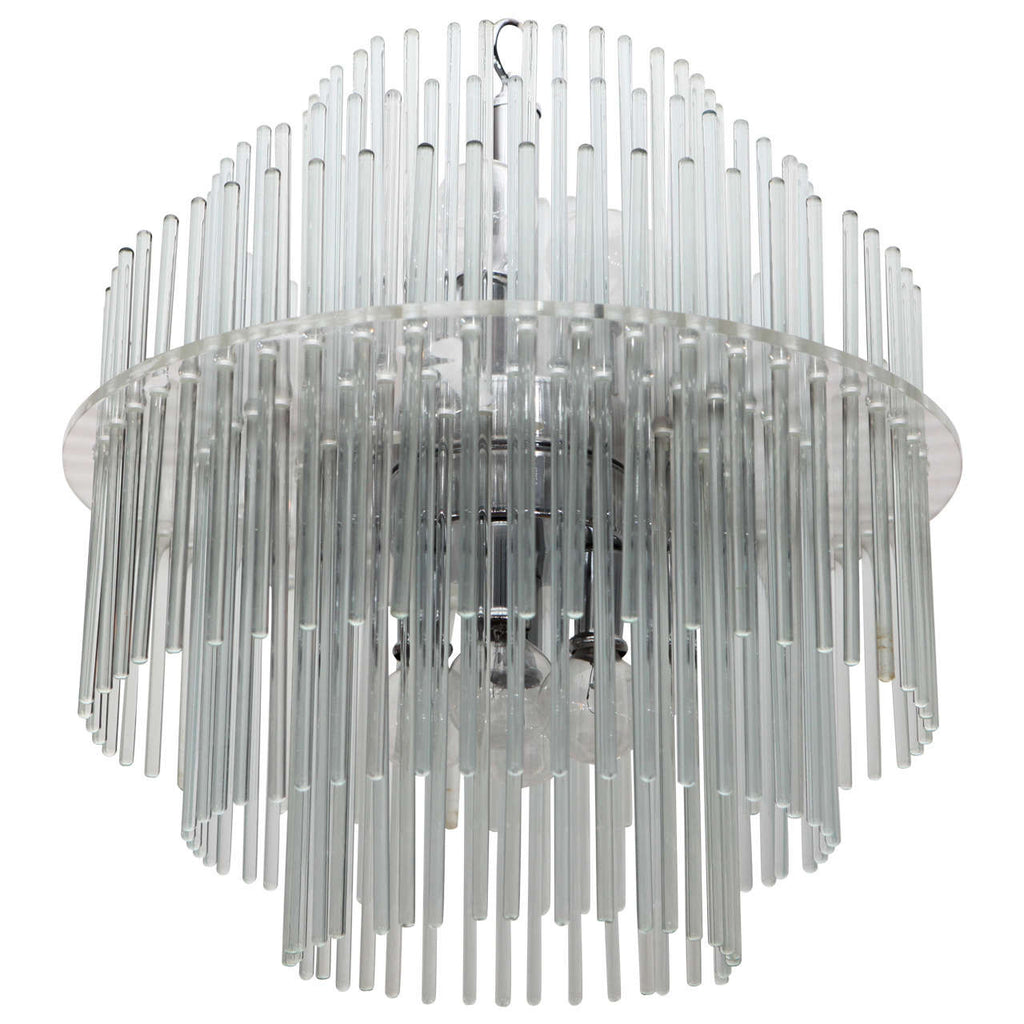 Glass Chandelier by Sciolari for Lightolier