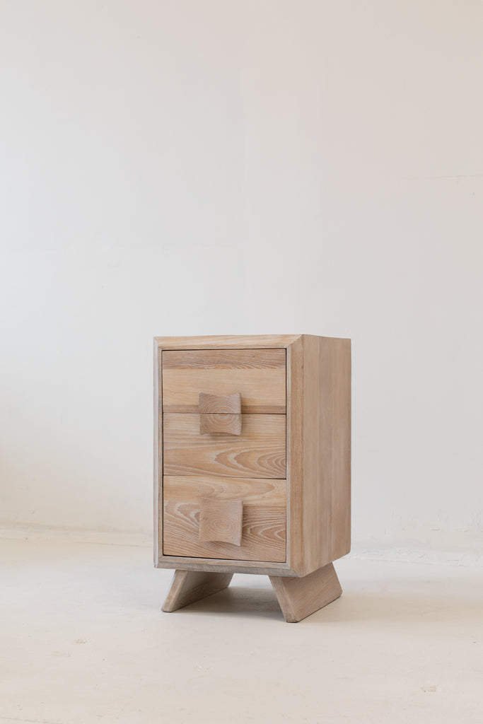 Pair of Paul Frankl Oak Nightstands