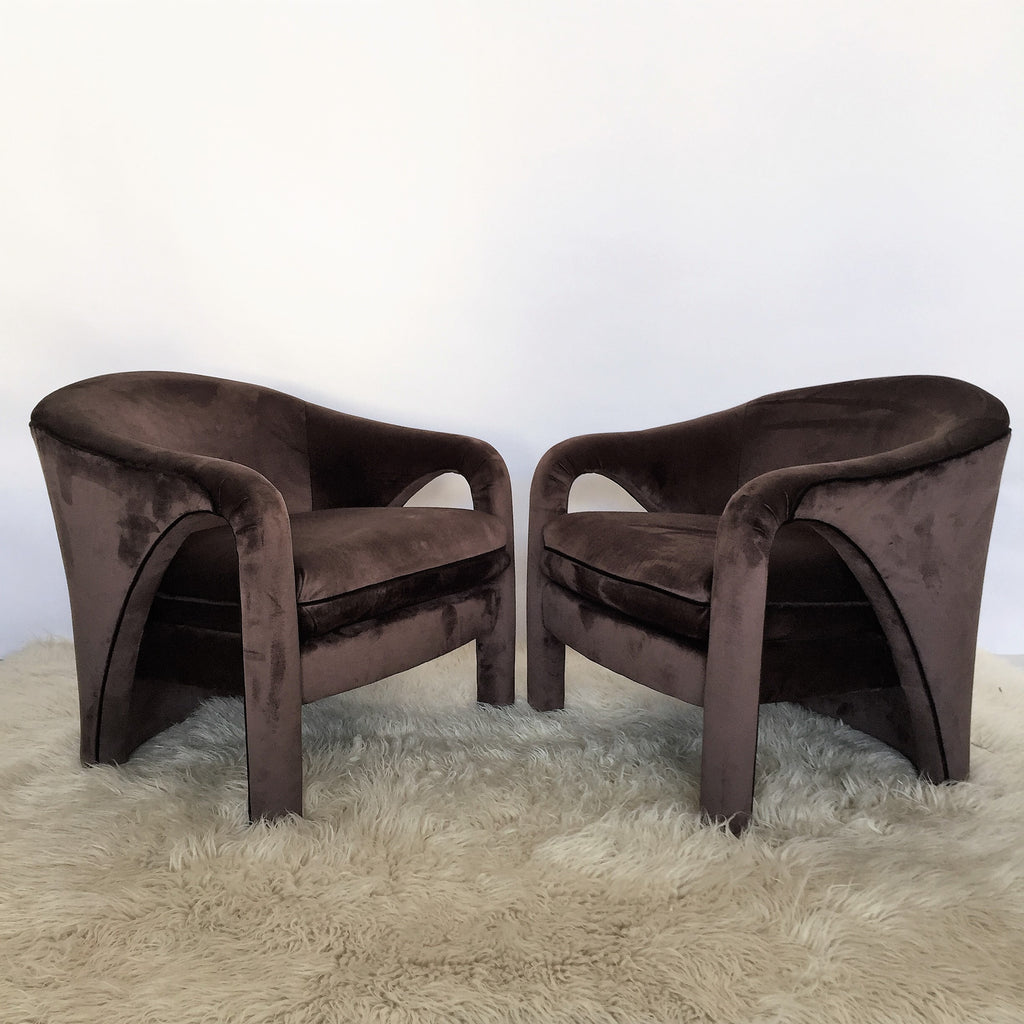 Milo Baughman Style American Club Chairs