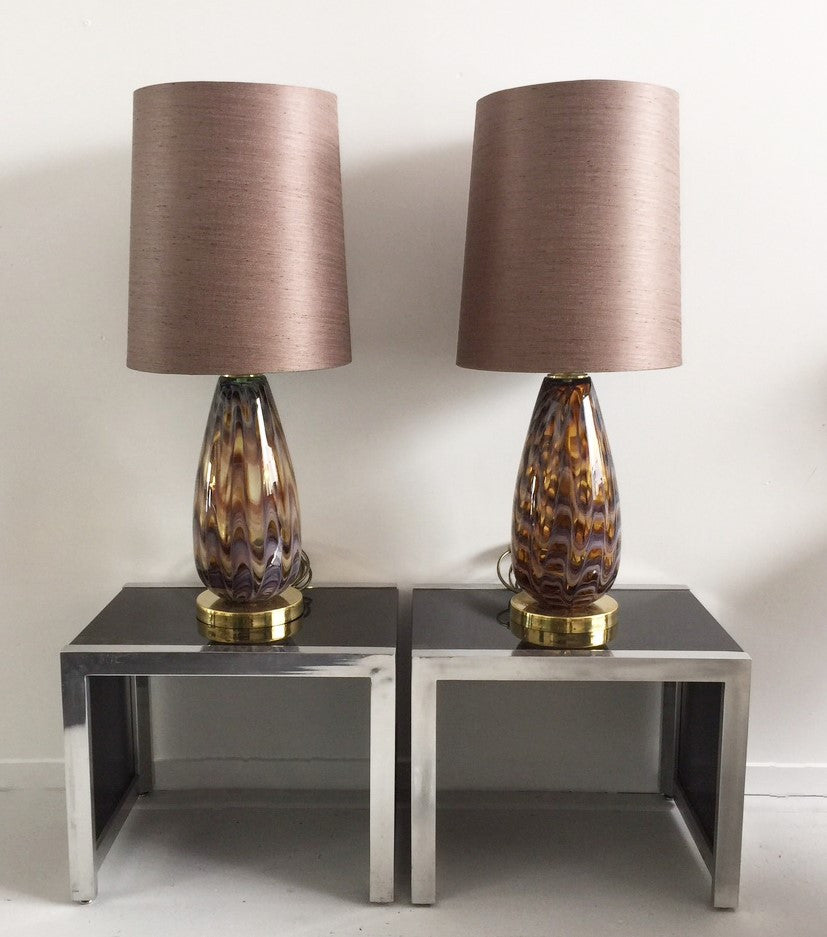 Bernhardt Chrome Glass Console