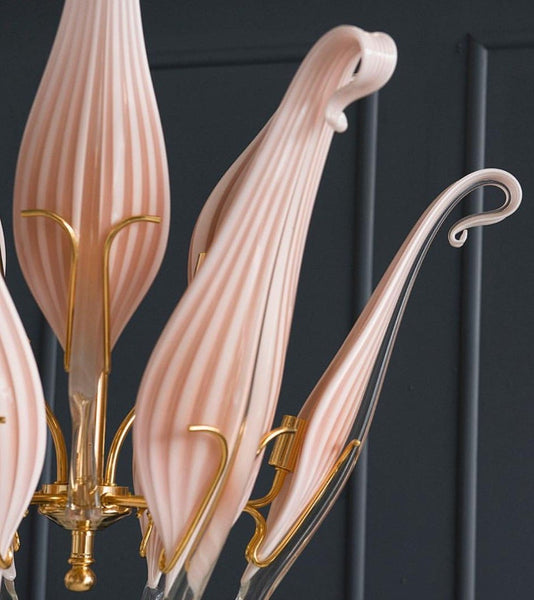 Franco Luce for Seguso Murano Chandelier