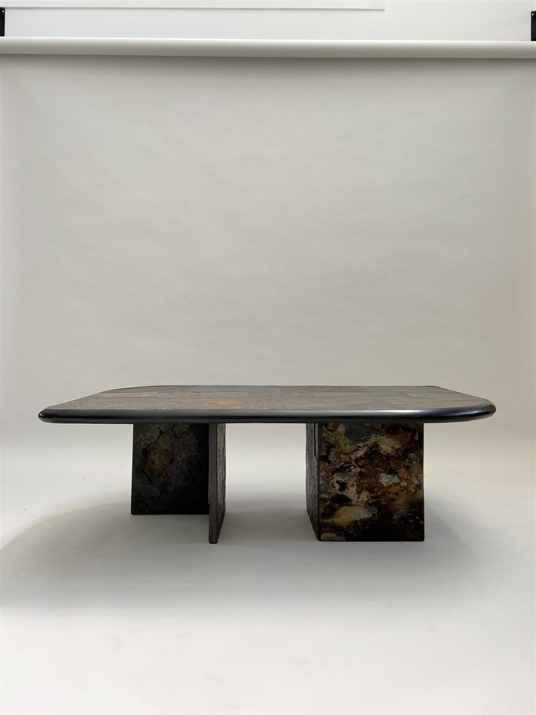 1970's Slate Coffee Table
