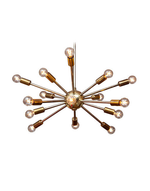 Atomic Brass Sputnik Chandelier
