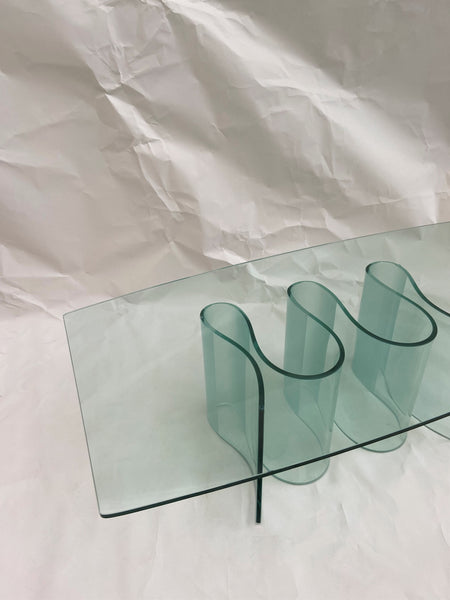 Modernist Sculptural Glass Table