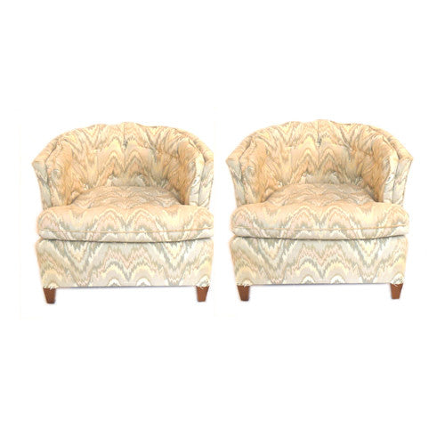 Pair of Vintage Barrel Chairs