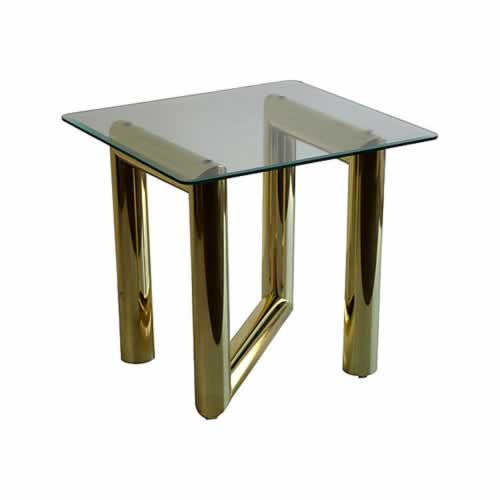 Karl Springer Brass Zig Zag Side Tables