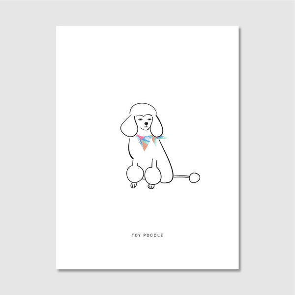 ordinary people illustration print toy poodle