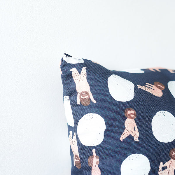 Yoga caveman zipper pillow case