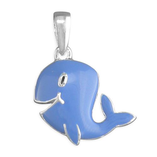 Childs Silver Blue Whale Pendant