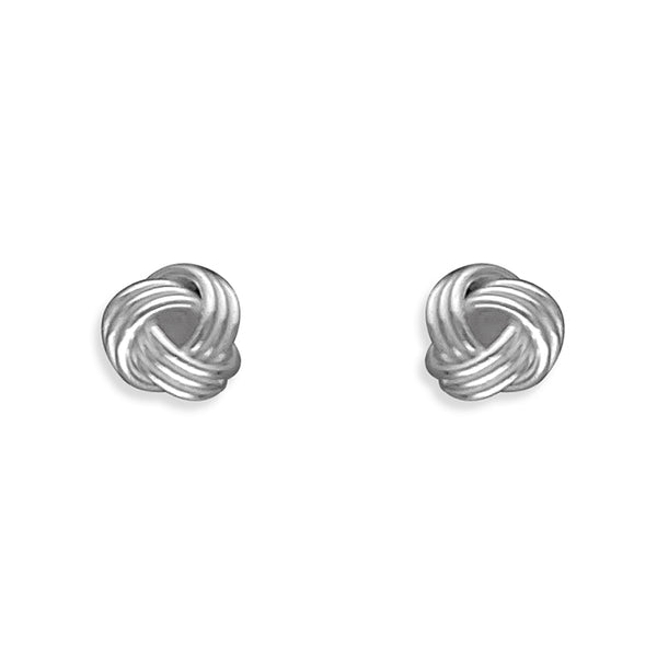 Small Silver Knot Stud Earrings