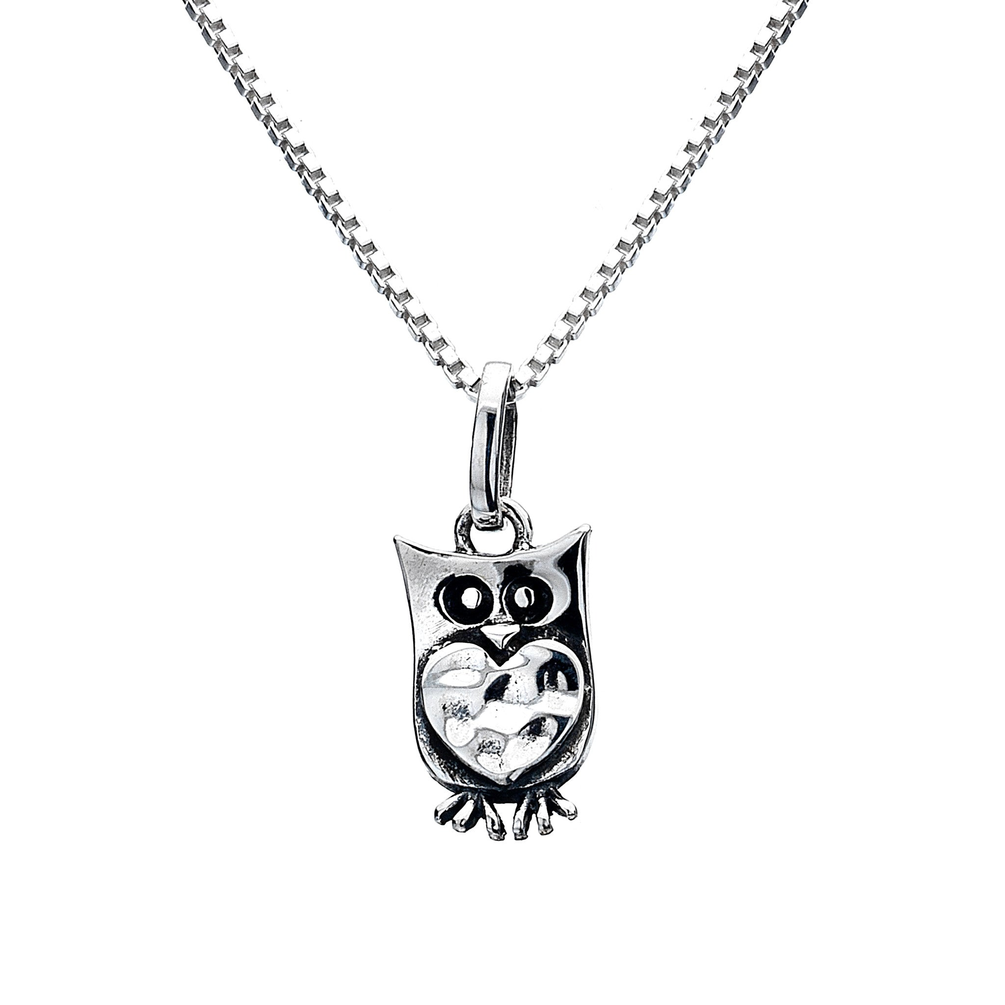 necklace natural blue hi stone rickis res pendant owl silver burnished