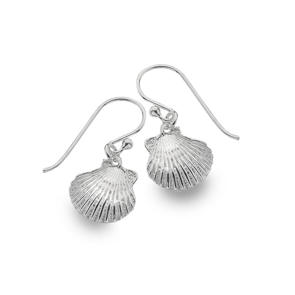 Silver Scallop Shell Earrings