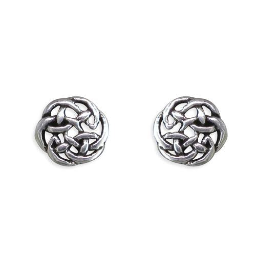 Small Silver Celtic Stud Earring