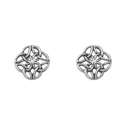 Small Silver Celtic Studs