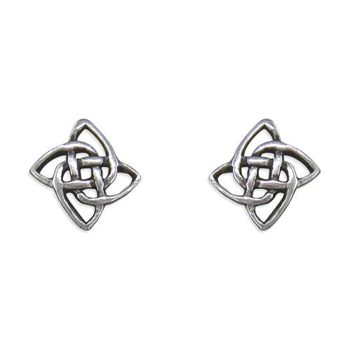 Small Silver Celtic Stud