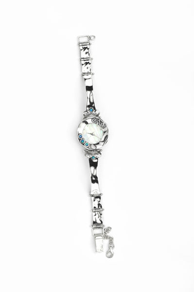 925 Silver and Opal Watch