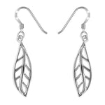 Silver Leaf Earrings.
