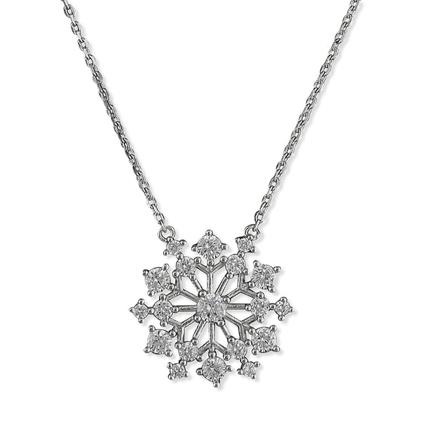 Silver Sparkle Snowflake necklace
