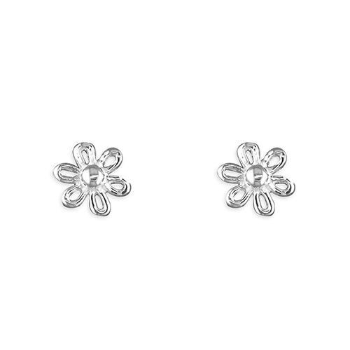 Small Silver Flower Stud