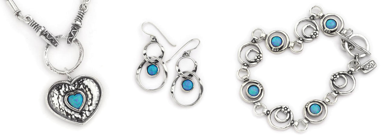 Silver and Opal jewellery collection