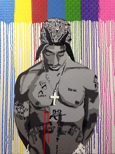 "Art - Painting: Hero ""Tupac 1"""