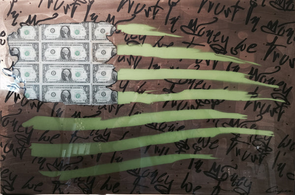 "Art - Painting: Campos Brothers ""In Money We Trust"""