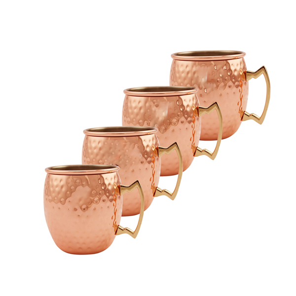 4 Copper Mugs - YesNo