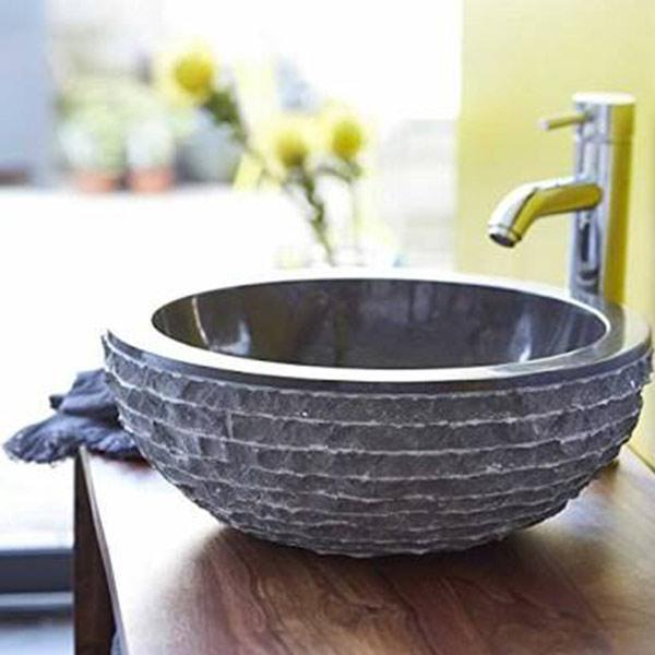 Black Marble Wash Basin - YesNo