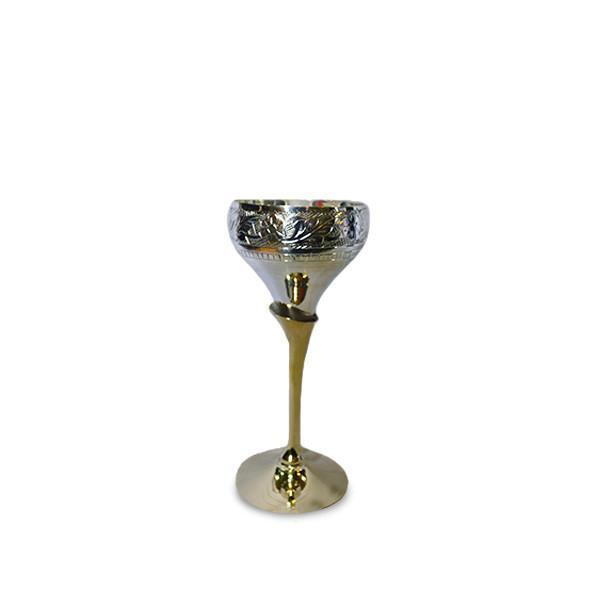 Brass Wine Goblet Glasses - Small - YesNo