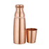 Copper Water Bottle with Glass - YesNo