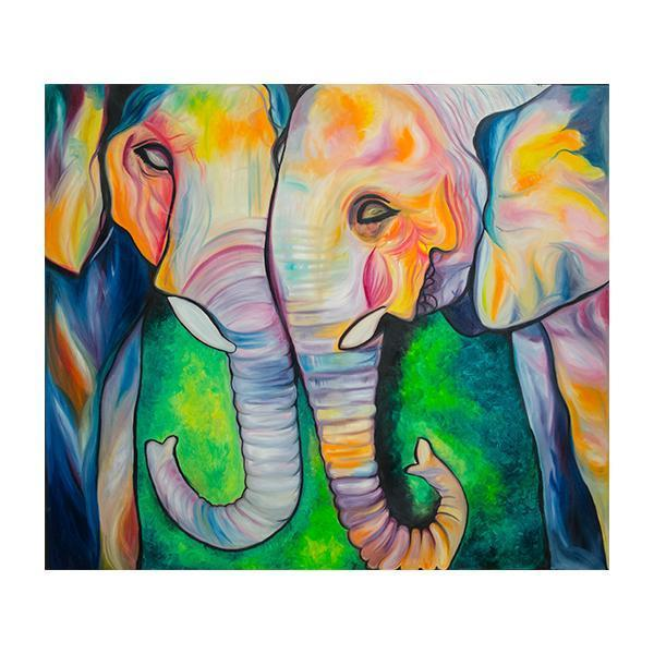 Elephant Love Painting